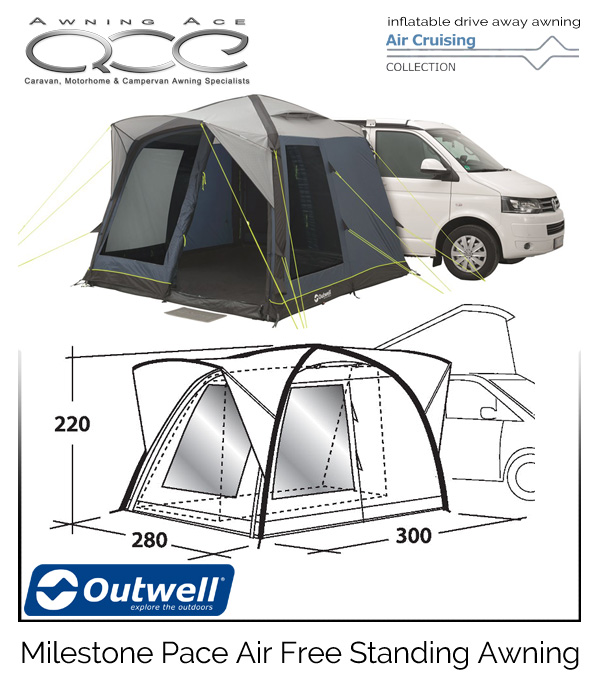 2019 Outwell Milestone Pace Air Inflatable Drive Away ...