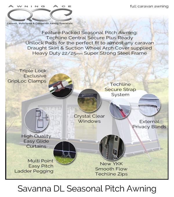 DL models CampTech Caravan Awning Tailored Standard Annex