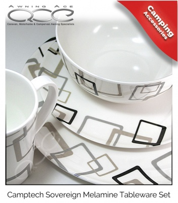 Camptech Sovereign Melamine Dinner Set - 16 Piece