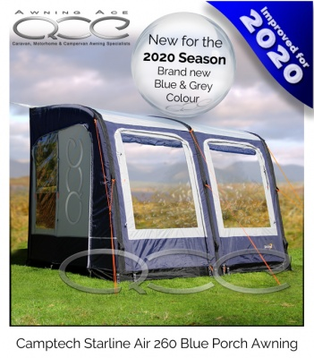 2020 Starline 260 Inflatable Blue Porch Awning