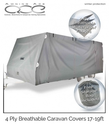 4 Ply Breathable 17-19ft Caravan Cover
