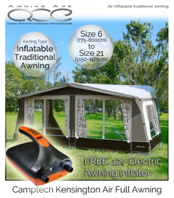 2019 CampTech Kensington Inflatable Full Caravan Air Awning