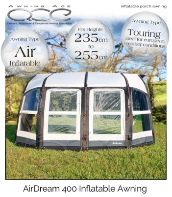 Airdream Lux 400 Inflatable Caravan Awning