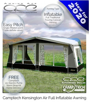 2021 CampTech Kensington Inflatable Full Caravan Air Awning