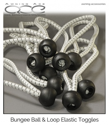 Bungee Ball & Loop (150 x 5mm) Shock Cord Toggles