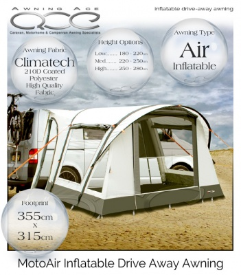 2018 CampTech Moto Air Inflatable Motor Home Awning