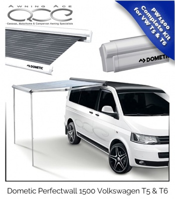 Volkswagen Roll Out Canopy Dometic PW1500 for VW T5 & T6 Silver