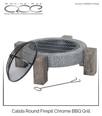 Calida Modern Round Fire Pit Party Grill