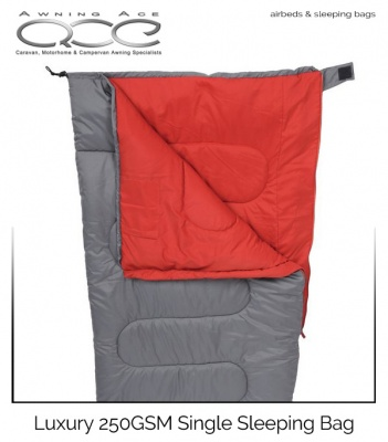 Highlander 250GSM Luxury Single Envelope Sleeping Bag