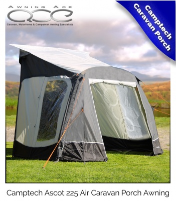 Camptech Ascot 225 Air Inflatable Lightweight Caravan Porch Awning