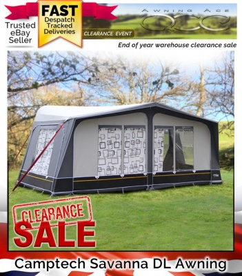 Camptech Savanna DL Size 16 Seasonal Caravan Awning (Returned)