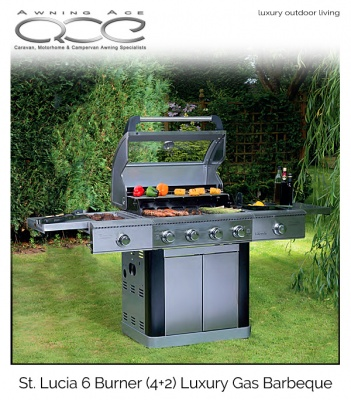 St Lucia Stainless Steel Luxury 6 Burner Barbecue