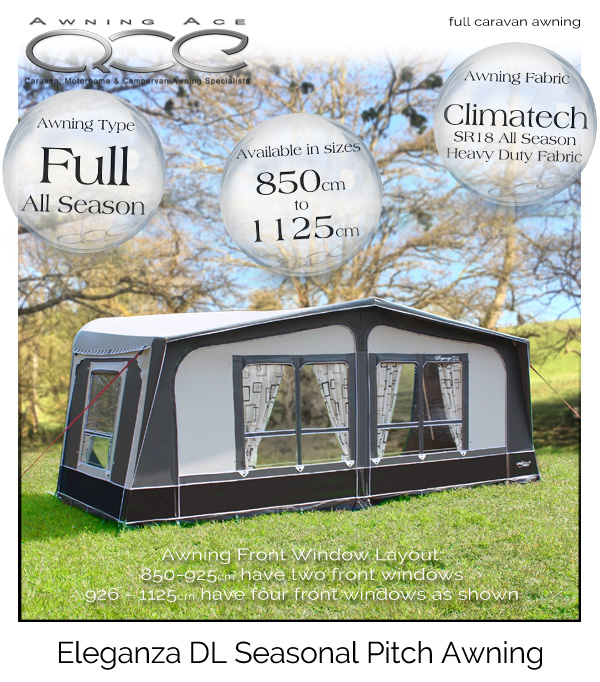 2018 CampTech Eleganza DL Seasonal Caravan Awning