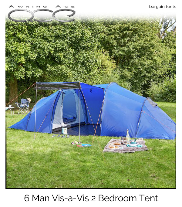 ProAction 6 Man 2 Room Vis-a-Vis Tent & ProAction 6 Man 2 Room Family Festival Tent - awningace.com