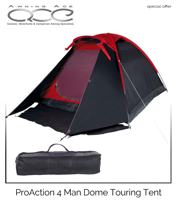 ProAction 4 Man Dome Tent  sc 1 st  Awning Ace & ProAction 4 Man Dome Touring Festival Tent - awningace.com