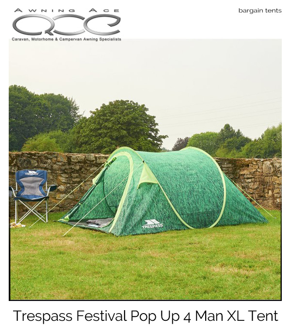 Trespass Festival Pop Up 4 Man XL Tent Used  sc 1 st  Awning Ace & Trespass Festival Pop Up 4 Man XL Tent - awningace.com