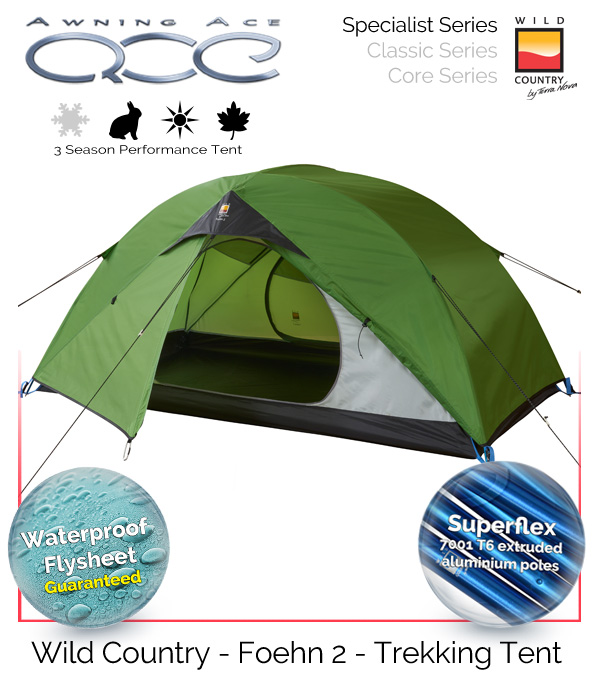 Wild County Coshee Micro 3 Season 1 Man Camping Backpacking Touring Tent.