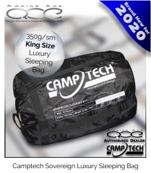 Camptech Sovereign King Size Luxury Sleeping Bag - 350g/sm