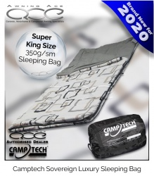 Camptech Sovereign Super King Size Luxury Sleeping Bag - 350g/sm