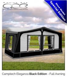 Size 7 Ex Demonstration CampTech Eleganza Seasonal Awning BLACK