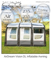Airdream Vision DL Inflatable Heavy Duty Caravan Awning