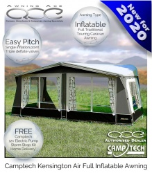 New 2020 CampTech Kensington Inflatable Full Caravan Air Awning
