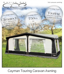Size 10 CampTech Cayman Touring Awning - Grey (As New)