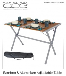 Chambery Bamboo & Aluminium Luxury Awning Family Table