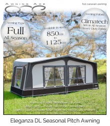 2019 CampTech Eleganza DL Seasonal Caravan Awning