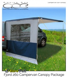 EuroTrail Fjord 260 Campervan Sun Canopy with Side Panel