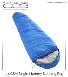 Highlander 250GSM Single Mummy Sleeping Bag