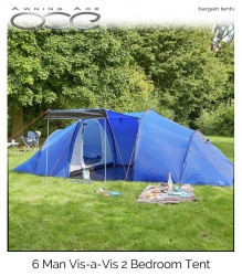 ProAction 6 Man 2 Room Tent (Refurbished)