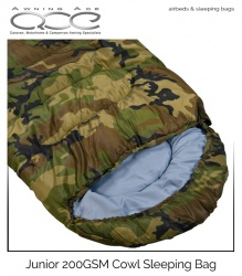 ProAction Junior 200GSM Cowl Sleeping Bag