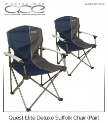Quest Elite® Deluxe Suffolk Chair (Blue) Pair