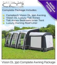 Camptech Airdream Vision DL 390 Four Season Inflatable Awning Package