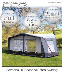 Camptech Savanna DL Size 9 Seasonal Caravan Awning