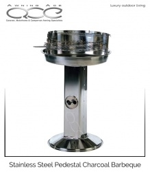 Stainless Steel Pedestal Charcoal Barbecue