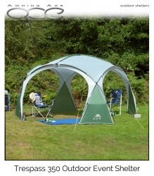 Trespass 350 Event Shelter & Side Wall Package