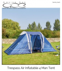 9fff648fe30 Wow Trespass Air 4 Man 2 Room Inflatable Tent (One inner)
