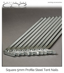 6'' Steel Square Profile Awning Nail Pegs